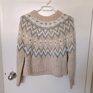 Anthropologie // Moon & Madison cropped sweater.